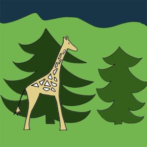 jeu girafe noel