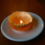 bougie mandarine