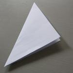 flocon de neige en papier étape 3