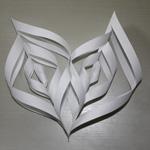 flocon de neige en papier étape 11