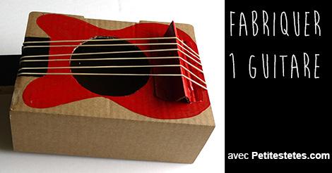 Fabriquer une guitare en carton - Fabriquer une chaussure en carton ...