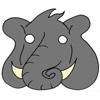 masque elephant couleur