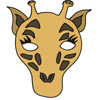 masque girafe couleur