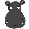 masque hippopotame couleur