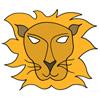 masque lion couleur