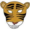 masque tigre couleur