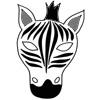 masque zebre couleur