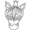masque zebre