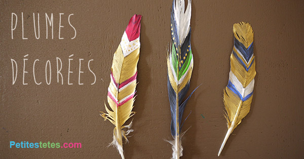 plumes decorees