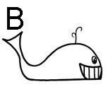lettre a colorier b