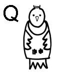 lettre a colorier q