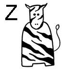 lettre a colorier z