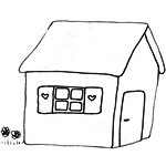 coloriage maison ours