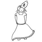 coloriage carnaval princesse