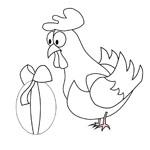 coloriage poule paques