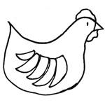 coloriage petite poule rousse