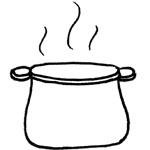 coloriage soupe caillou