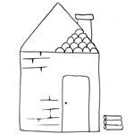 coloriage maison de brique