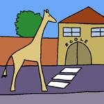 rafi la girafe à l'école