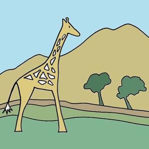 rafi la girafe dans la savane