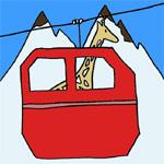 jeu girafe ski