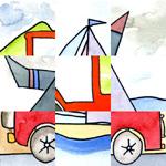 puzzle mosaique transports