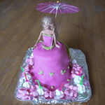 gateau princesse ombrelle