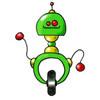 invitation anniversaire robot 2