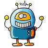 invitation anniversaire robot 9