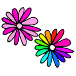 etiquettes a imprimer fleur couleur