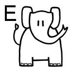 lettre a colorier e