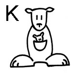 lettre a colorier k