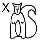 lettre a colorier x