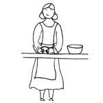coloriage femme bonhomme pain epice