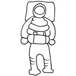 coloriage carnaval cosmonaute