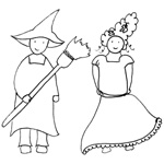 coloriage carnaval fille