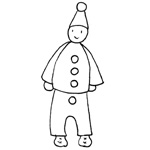 coloriage carnaval pierrot
