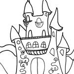 coloriage chateau de princesse