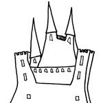coloriages chateau