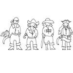 coloriage 4 pirates