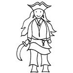coloriage fille du pirate