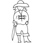 coloriage pirate jambe de bois