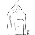 coloriage maison de paille