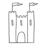 coloriage enfant chateau fort