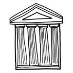 coloriage enfant temple grec