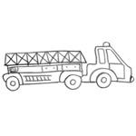 coloriage camion pompiers