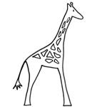 coloriage rafi la girafe