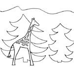 coloriage rafi la girafe noel