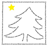 Calligrammes de Noël