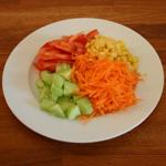 assiette multicolore